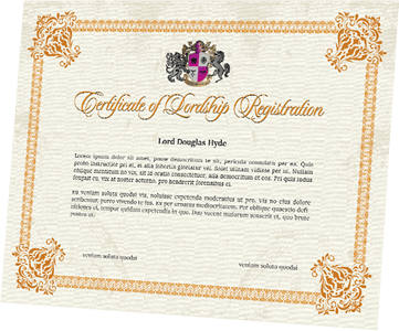 lordship titles certificate
